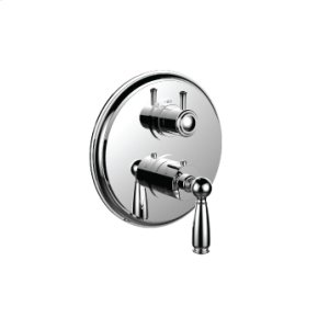 """7098ey-tm - 1/2"""" Thermostatic Trim With 3-way Diverter Trim (shared Function) in Antique Copper"""