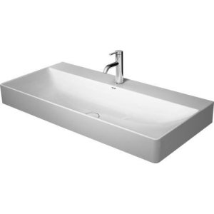 Durasquare Furniture Washbasin 2 Faucet Holes Pre-marked With Large Distance Between Faucets