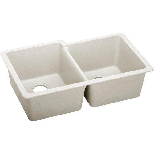 "Elkay Quartz Luxe 33"" x 20-1/2"" x 9-1/2"", Offset Double Bowl Undermount Sink"
