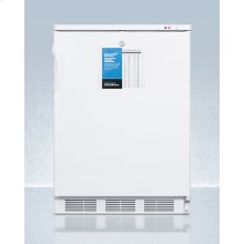 """24"""" Wide -25 c All-freezer for Freestanding Use, Manual Defrost With A Lock and Probe Hole for User-installed Monitoring Equipment"""