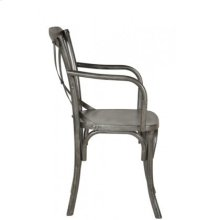 Industrial X Back Armchair