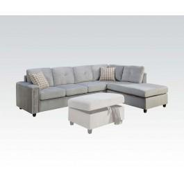 Gentil Belville Gray Sectional Sofa