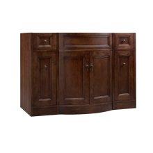 """Marcello 48"""" Bathroom Vanity Cabinet Base in Café Walnut"""
