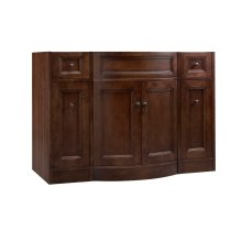 "Marcello 48"" Bathroom Vanity Cabinet Base in Café Walnut"