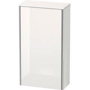 Semi-tall Cabinet, White High Gloss Lacquer