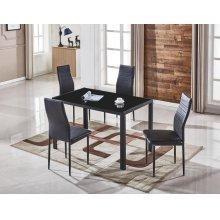 Noir 5pc Dining room set