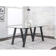 Tripoli-black Metal Table Base
