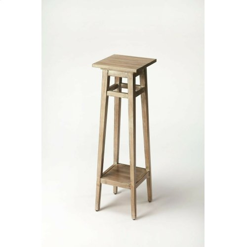 Shaker simplicity defines this elegantly understated pedestal with slightly tapered legs and impeccably veneered matching top and base. Crafted from rubber wood solids, cherry veneer and wood products in casual Driftwood finish.