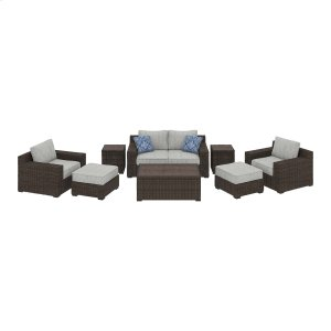Ashley Furniture Alta Grande - Beige/brown 8 Piece Patio Set