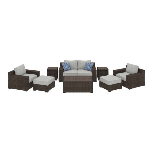 Alta Grande - Beige/Brown 6 Piece Patio Set