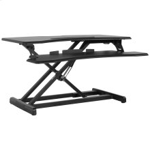 """32.6""""W Black Sit / Stand Height Adjustable Desk with Height Lock Feature"""
