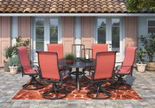 Apple Town - Burnt Orange 4 Piece Patio Set