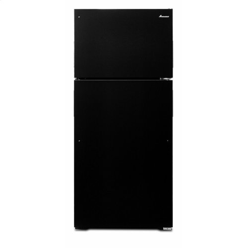 28-inch Top-Freezer Refrigerator with Gallon Door Storage Bins - Black