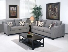 1225S Sofa in Flyer metal Pillows in Roxanne Rio & Euphoria