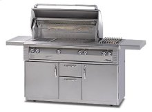 "56"" Deluxe cart model grill"