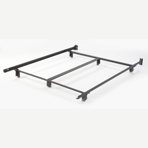 Inst-A-Matic Hospitality H761LG Low Profile Bed Frame with Fixed Headboard Brackets and (6) 2-Piece Glide Legs, Queen