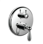 """Trim (shared Function) 1/2"""" Thermostatic Trim With 2-way Diverter in Polished Chrome"""