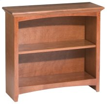 "GAC 29""H x 30""W McKenzie Alder Bookcase in Antique Cherry Finish"