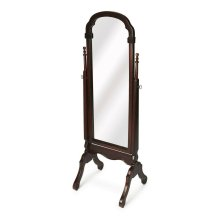 Selected solid woods and choice cherry veneers. Tilt mirror.