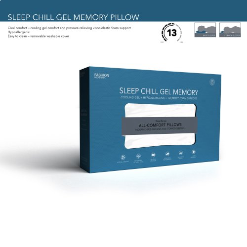 Sleep Chill Gel Memory Foam Pillow, King