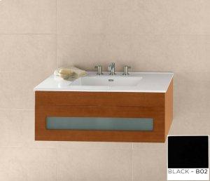 "Rebecca 36"" Wall Mount Bathroom Vanity Base Cabinet in Black Product Image"