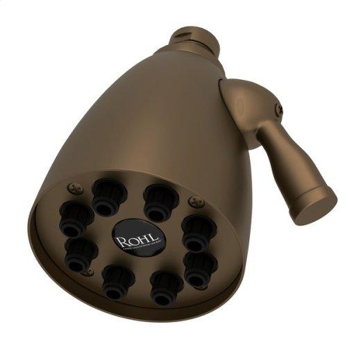 "English Bronze 3 1/2"" Calliano Adjustable Showerhead"