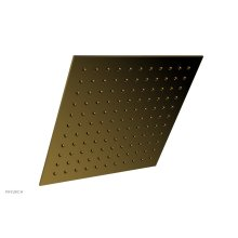 """12"""" X 12"""" Square Shower Head 3-337 - French Brass"""
