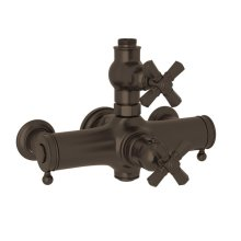 Tuscan Brass Palladian Exposed Thermostatic Valve with Cross Handle