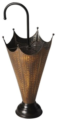 This distinctive umbrella stand is certain to be the finishing touch in your space. Featuring an antique brass finish, it is hand crafted from brass sheet / iron loader .