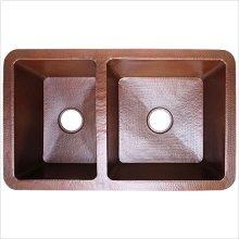 Undermount Kitchen Offset Double Bowl
