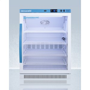 SummitPerformance Series Pharma-vac 6 CU.FT. Freestanding ADA Height Glass Door All-refrigerator for Vaccine Storage
