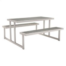 Cuomo Picnic Table Brushed Aluminum