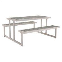 Cuomo Picnic Table Brushed Aluminum