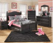 Jaidyn - Black 4 Piece Bed Set (Full)