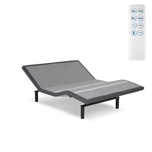 Leggett And PlattCaliber Low-Profile Adjustable Bed Base with Simultaneous Movement, Flint Onyx Finish, King