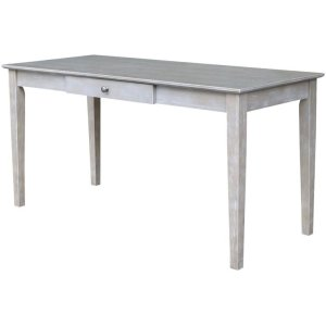 JOHN THOMAS FURNITUREWriting Table w/ Drawer in Taupe Gray