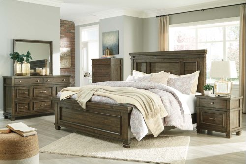 Darloni - Grayish Brown 2 Piece Bedroom Set