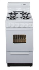 20 in. Freestanding Gas Range in White Product Image