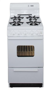 20 in. Freestanding Gas Range in White