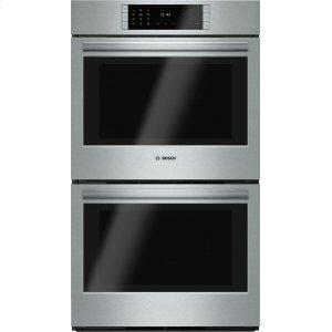 """BoschBENCHMARK SERIESBenchmark Series, 30"""", Double Wall Oven, SS, EU conv./EU conv., TFT Touch Control"""