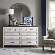 Bella 9 Drawer Stone Top Dresser