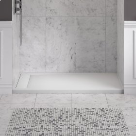 Townsend 60x36-inch Solid Surface Shower Base - Left Drain  American Standard - Soft White
