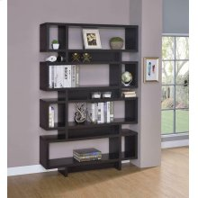 Contemporary Cappuccino Bookcase