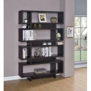 CoasterContemporary Cappuccino Bookcase