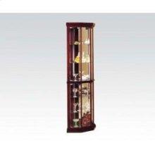 Glass Corner Cabinet 16x16x71h