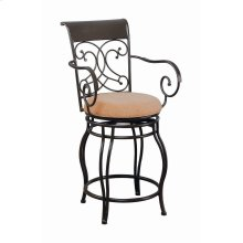 Metal Swivel Brown Counter-height Stool