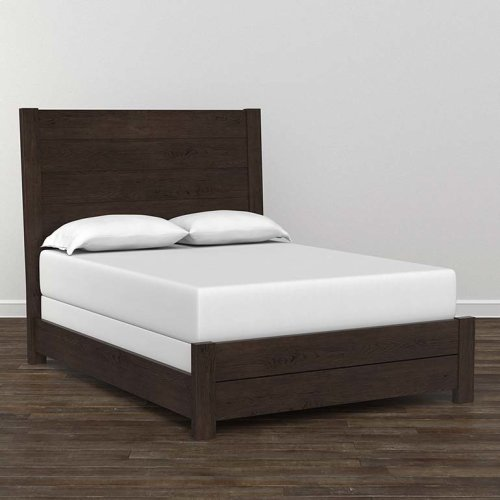 Bench*Made Oak Queen Upholstered Panel Bed