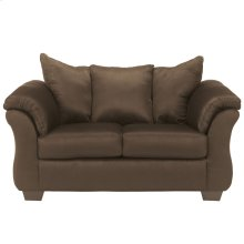 Signature Design by Ashley Darcy Loveseat in Cafe Microfiber