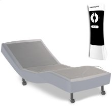 Signature Adjustable Bed Base with Ultra-Quiet Motor and Wireless Remote, Gray Finish, Twin