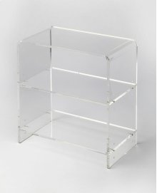 Crafted from clear acrylic and featuring a minimalist modern design, this bookcase's understated look lets your favorite photobooks or intriguing objects d'art take center stage.